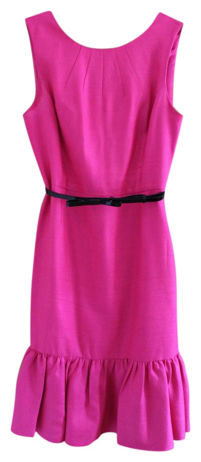 kate spade pink with black belt knit dress