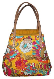 Kate Spade Floral Paisley Designer Tote in Yellow Multicolor