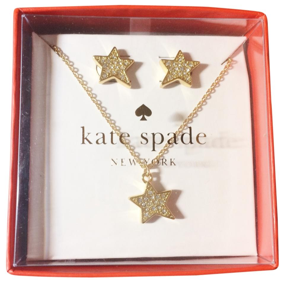 Kate Spade Gold Clear New twinkle Twinkle Star Earrings and