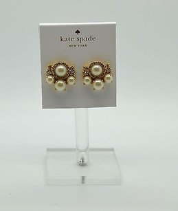 Kate Spade Kate Spade Gold Pearls Of Wisdom Stud Earrings