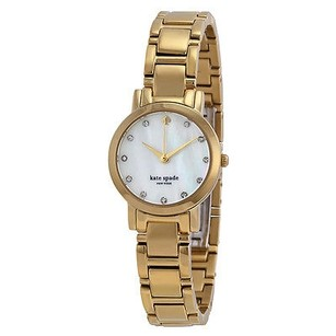 Kate Spade Kate Spade Gramercy Mini Mother Of Pearl Dial Gold-tone Ladies Watch