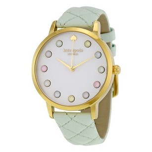 Kate Spade Kate Spade Metro Grand White Dial Mint Leather Ladies Watch