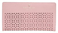Kate Spade Kate Spade Cedar Street Perforated Pink Bonnet Stacy Clutch Wallet Pwru4956