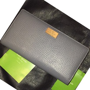 Kate Spade KSNY STACY HIGHLAND PLACE Bifold Leather Wallet In Gray