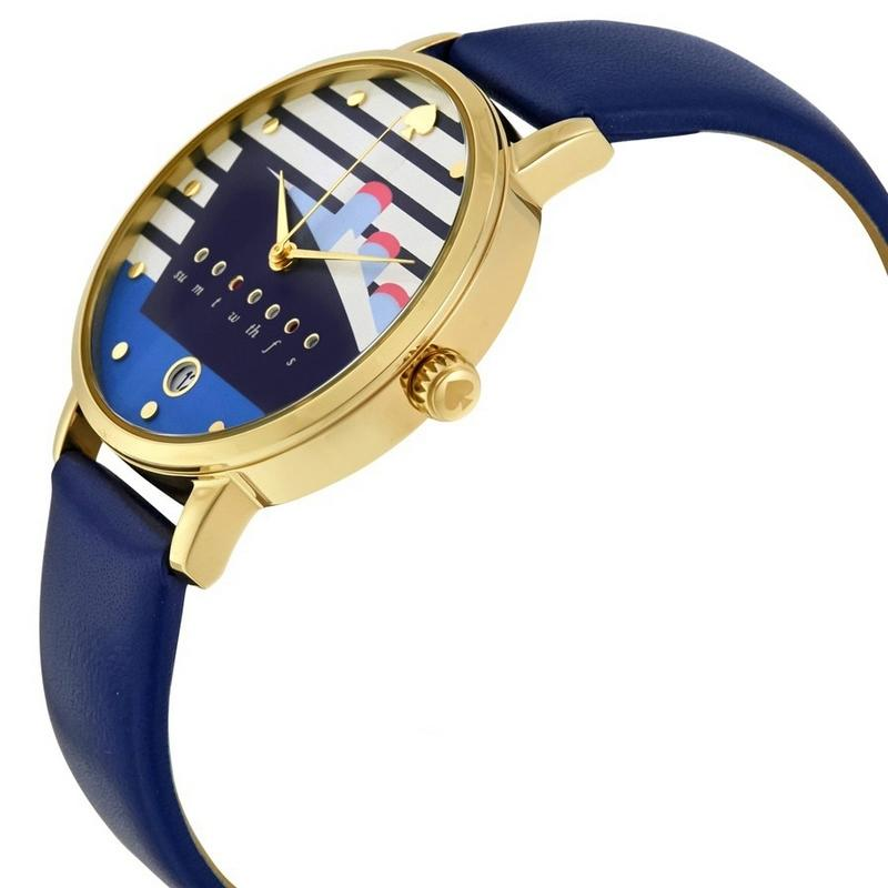 Kate Spade Ksw1138 Womenu0026#39;s Blue Leather Band With Cruise Ship Analog Dial Watch - Tradesy