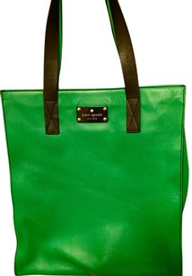 Kate Spade Leather Tote in Green