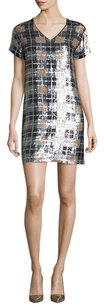 Kate Spade New York Sequin Plaid Shift Dress