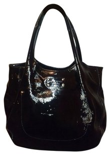 Kate Spade Patent Leather Satchel Rare Polka Dot Lining Hobo Bag