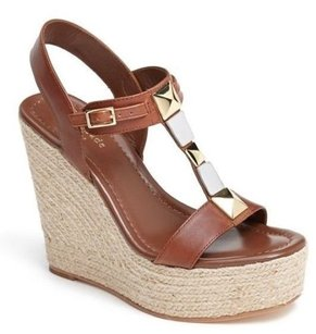 Kate Spade York Luxe Platform Brown Sandals