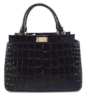 Kate Spade Leather Becky Satchel in Black