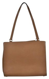Kate Spade Womens Tan Solid Leather Handbag Satchel in Brown