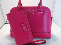 Kate Spade Ny Leather Satchel in Pink