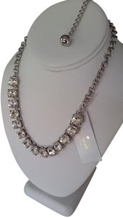 Kate Spade Silver Clear SQUARED AWAY Necklace