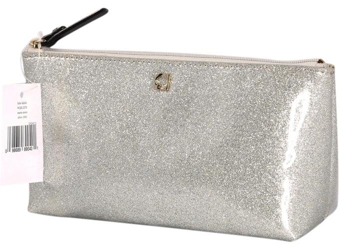 Kate Spade * Kate Spade Sparkle Little Shilo Marvis Street Silver Cosmetic  Bag ...