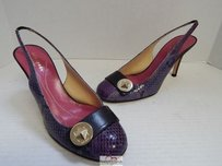 Kate Spade Italy Snake Purple Pumps