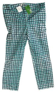 Kate Spade Straight Pants Blue green white
