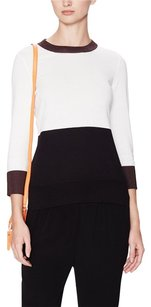 Kate Spade Color-blocking Top White Black Brown