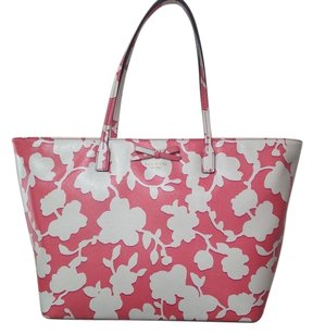 Kate Spade Tote in Pink & White