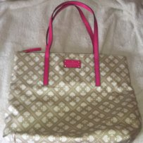 Kate Spade Tote in tan and pink