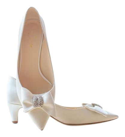 wedding shoes nyc kate spade ivory satin new york pumps size us 7 regular 1129
