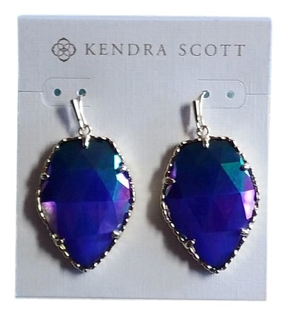 Kendra Scott Iridescent Cobalt Corley Earrings Tradesy
