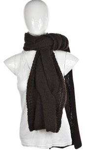 Kenneth Cole Kenneth Cole Womens Dark Brown Scarf One Chunky Knit Casual