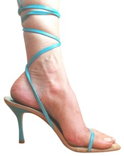 Kenneth Cole Leather Turquoise Pumps