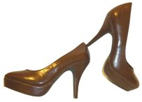 Kenneth Cole Nwt Patent Leather Pump Brown Pumps