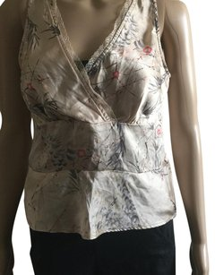 Kenneth Cole Top Tan Floral print