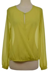 Kenneth Cole Womens Top Yellow Green