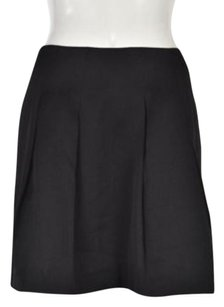 Kensie Womens Striped Above Knee Causal Polyester Skirt Black