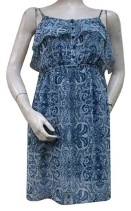 Kensie short dress Blue Tile Spaghetti Strap Pen And Ink Style Fmuk9050 on Tradesy