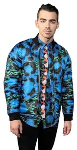 Kenzo Shirt Tiger Button Down Shirt Turquoise, green, and black