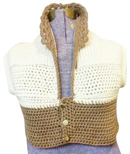 Khosi Clothing & Accessories Vintage Vest Crochet Knit Sweater
