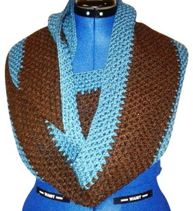 Khosi Clothing & Accessories Extra Wide Thick Crochet Knit Shawl Wrap Cable Loop Infinity Scarf