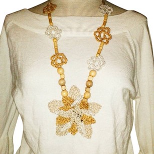Khosi Clothing & Accessories Flower Boho Crochet Wooden Beaded Necklace