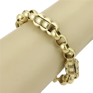 Kieselstein-Cord Kieselstein Cord 18k Gold Unique Double Curve Long Link Toggle Bracelet