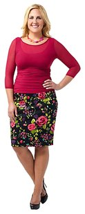 Kiyonna Plus-size Pencil Full-figure Skirt Black