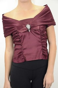 KM Collections Burgundy Top Red