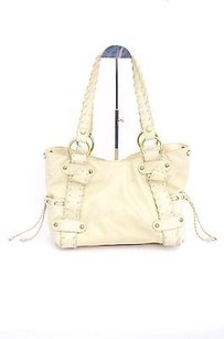 Kooba Cream Sienna Satchel in Ivory