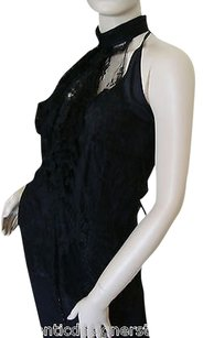 L'Agence Silk And Lace Top Black