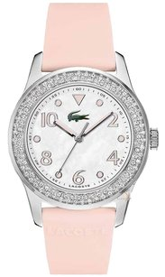 Lacoste Advantage Mother of Pearl Dial Rubber Strap Ladies Watch