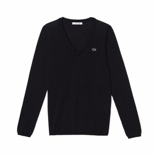 Lacoste Cotton Pointelle Wide Sweater