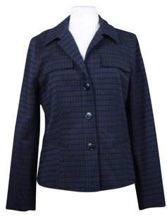 Lafayette 148 New York Womens 2 Tone Black Jacket