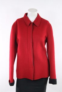 Lafayette 148 New York Wool Button Red Jacket
