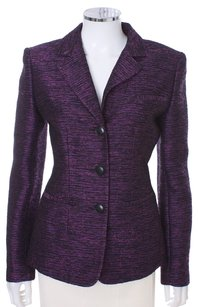Lafayette 148 New York Metalic Purple Blazer