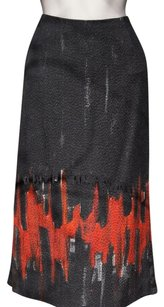 Lafayette 148 New York Skirt Black Red