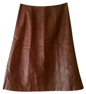 Lafayette 148 New York Skirt Brown leather