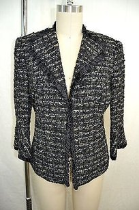 Lafayette 148 New York Petite Black Multi-Color Jacket
