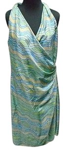 Lafayette 148 New York Geo Print Silk Lined Wrap 2476a Dress